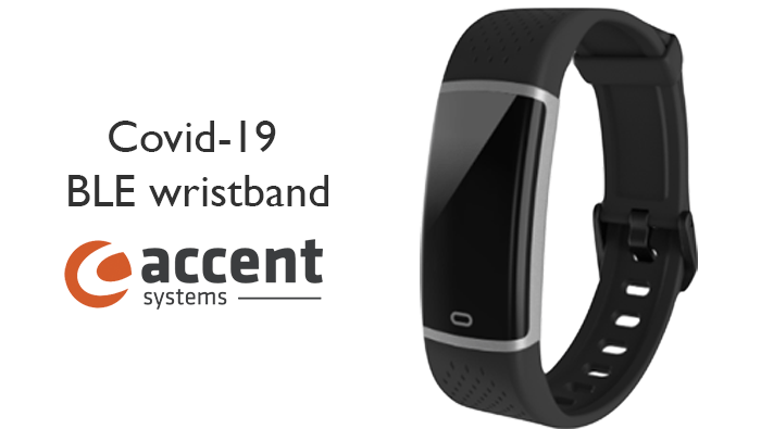 covid-19 ble wristband accent systems